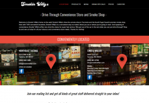 Smoking Willys Website Design