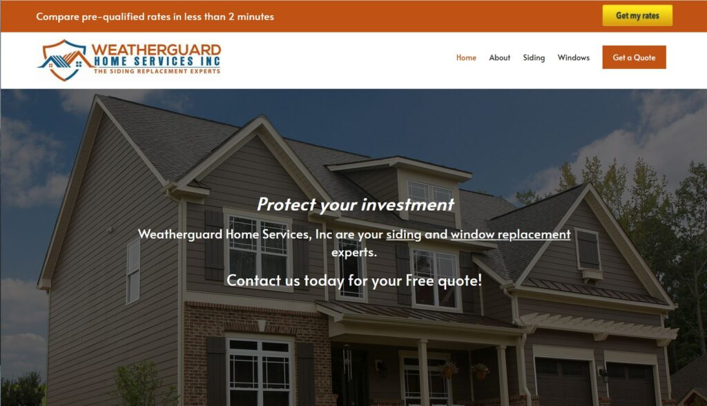 WeatherGuard Website Design and Hosting