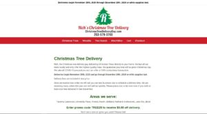 Rich's Christmas Tree Delivery Service Web Design